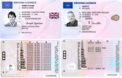 uk driving licence template freelancer
