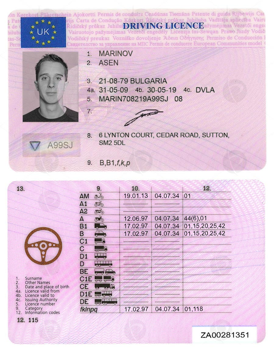 entry 11 by widichamp for uk driving licence template freelancer