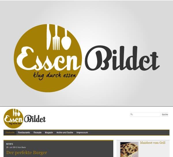 Kilpailutyö #5 kilpailussa Design eines Logos for website www.essenbildet.de