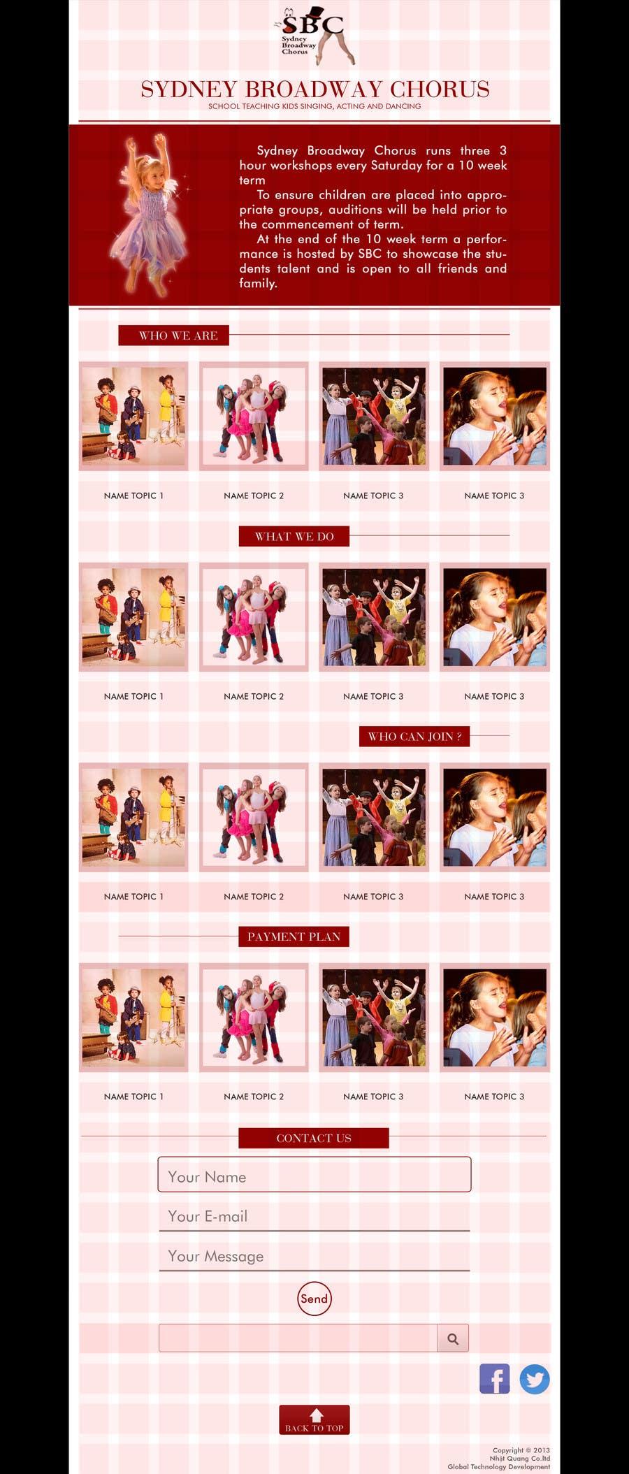 Bài tham dự cuộc thi #                                        10                                      cho                                         www.sydneybroadwaychorus.com