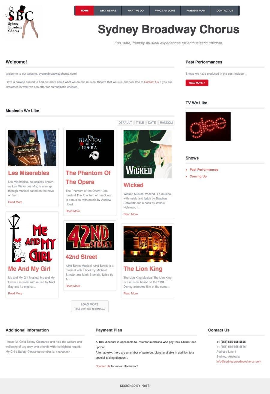 Bài tham dự cuộc thi #                                        6                                      cho                                         www.sydneybroadwaychorus.com