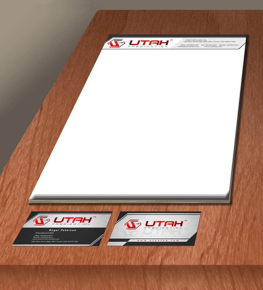 #14 for Design some Business Cards & Letterhead for Utah Fabrication by mirceacojocaru