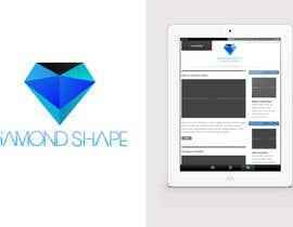 #34 para DiamondShape.com Logo & Header por theislanders