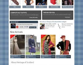 #4 cho HeritageOfScotland.com - online store graphic design. Functional mockup is ready. Probable job offer for three best designers. bởi kethketh