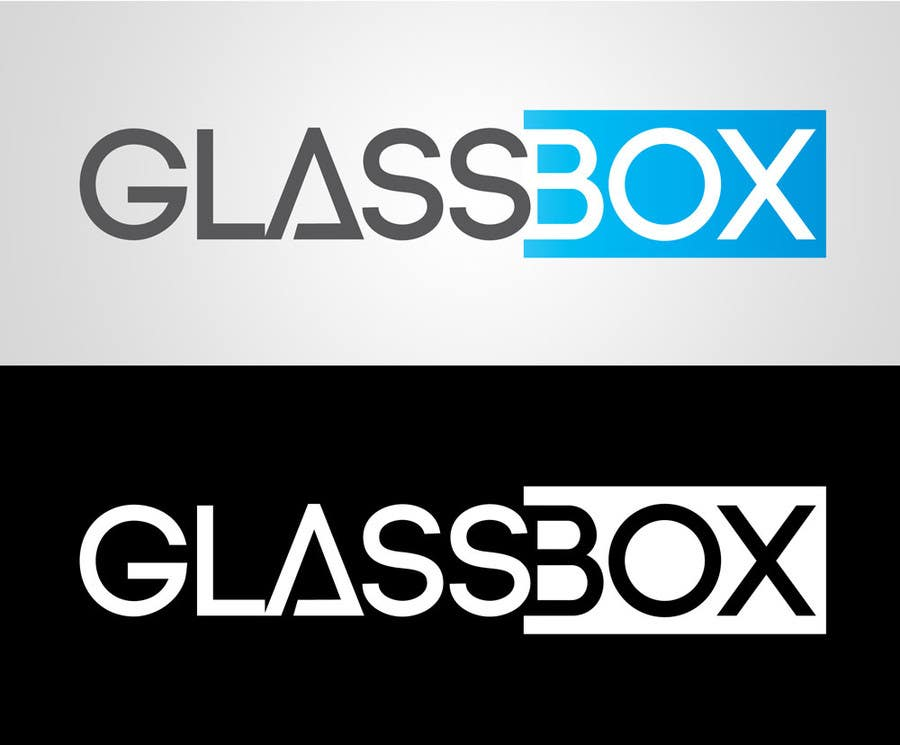 #323 for Clean & modern logo for the name GLASSBOX (international consulting biz) by dindinlx
