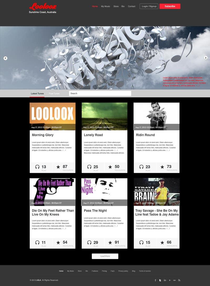 Kilpailutyö #18 kilpailussa Design a Website Mockup for Loolooxbeatz
