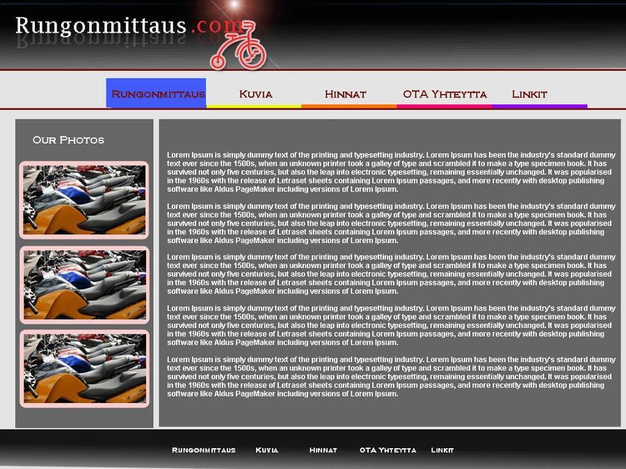 Kilpailutyö #                                        1                                      kilpailussa                                         Design a Website Mockup for static site