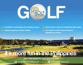 #14 para Poster/ Advertisement for Golf Holidays  - RUSH Deadline Sep.13 por Mimi214