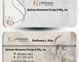 #34 untuk Design some Business Cards for Monument / Headstone company oleh mamem
