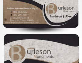 #36 untuk Design some Business Cards for Monument / Headstone company oleh mamem