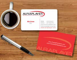 #13 for Design some Business Cards for AuraPlayer by mgliviu