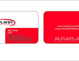 #3 for Design some Business Cards for AuraPlayer by shy1992
