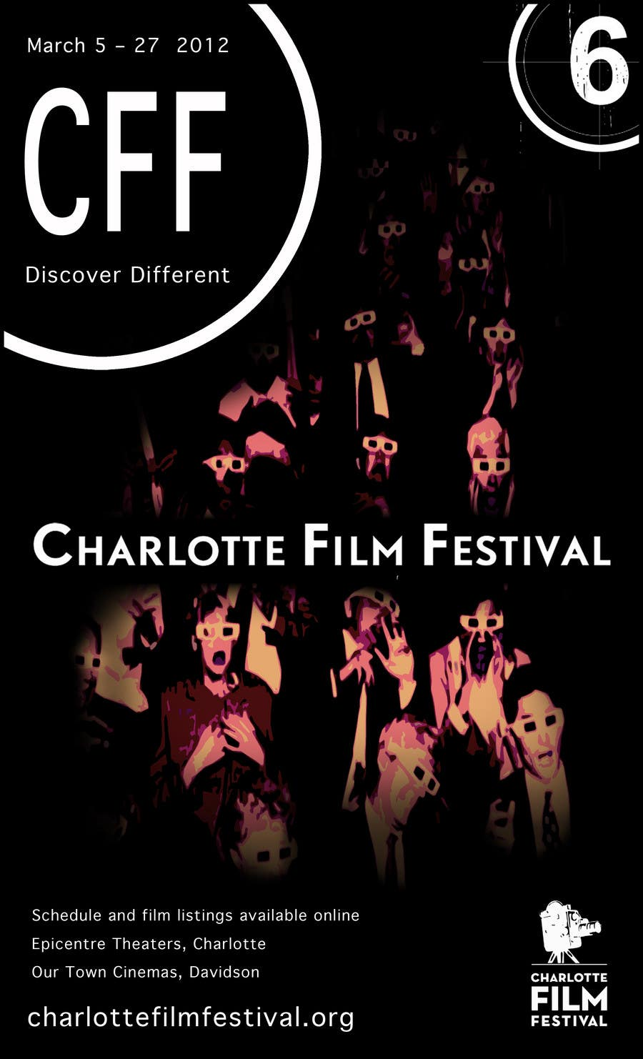 Inscrição nº 83 do Concurso para Design materials for the Charlotte International Film Festival