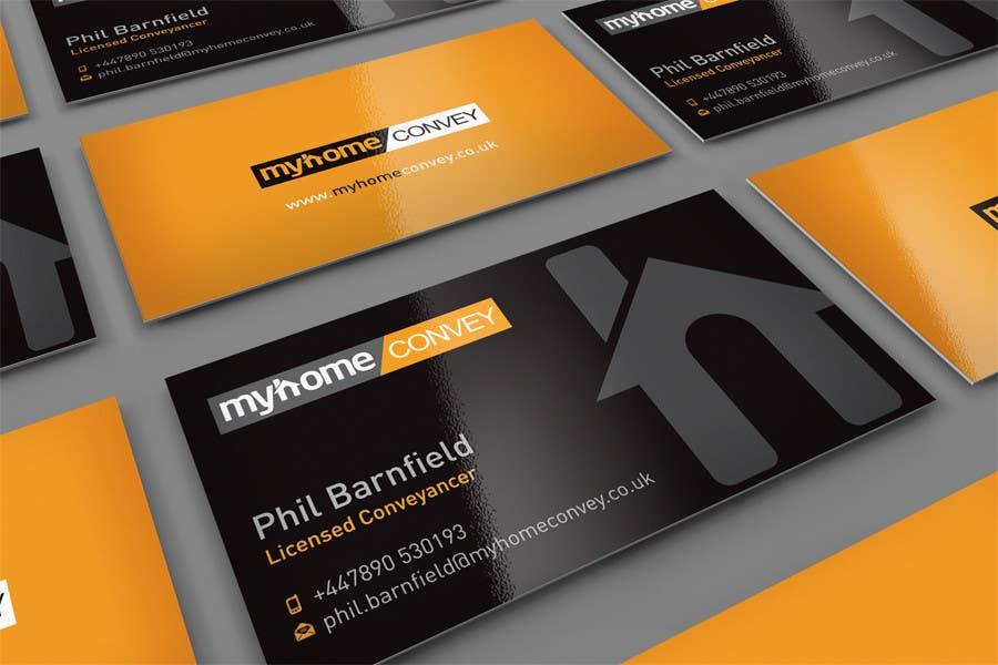 Penyertaan Peraduan #44 untuk Business Card Design for Real Estate Lawyer with revision of logo.