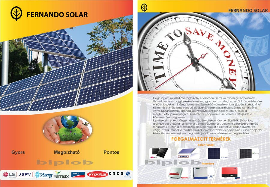 entry 12 by biplob36 for design brochure with price list for solar