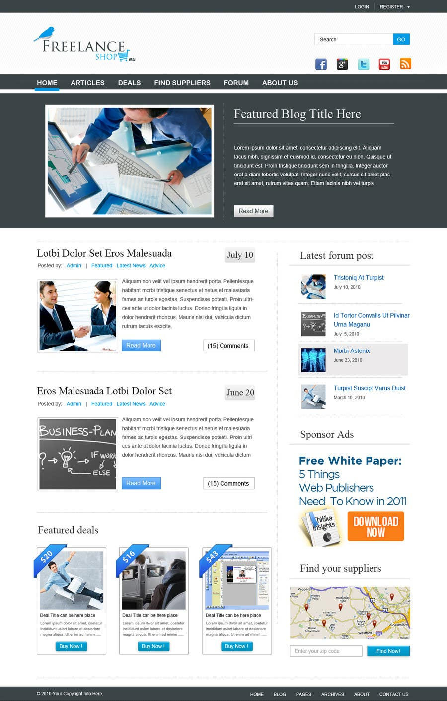 #143 for Website Design for freelance shop by dragnoir