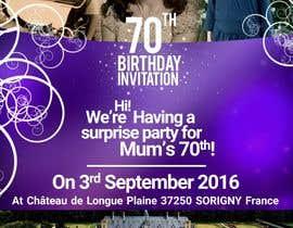 #23 for 70th Birthday invite by shivam3vedi