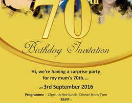 #7 for 70th Birthday invite by yadesh