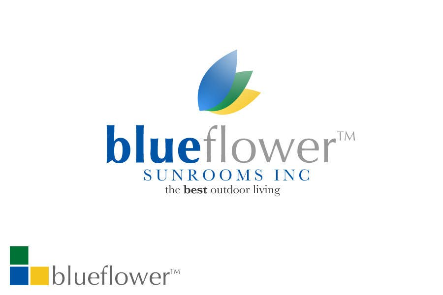 #101 for Logo Design for Blueflower TM Sunrooms Inc.  Windscreen/Sunrooms screen reduces 80% wind on deck by jw92189