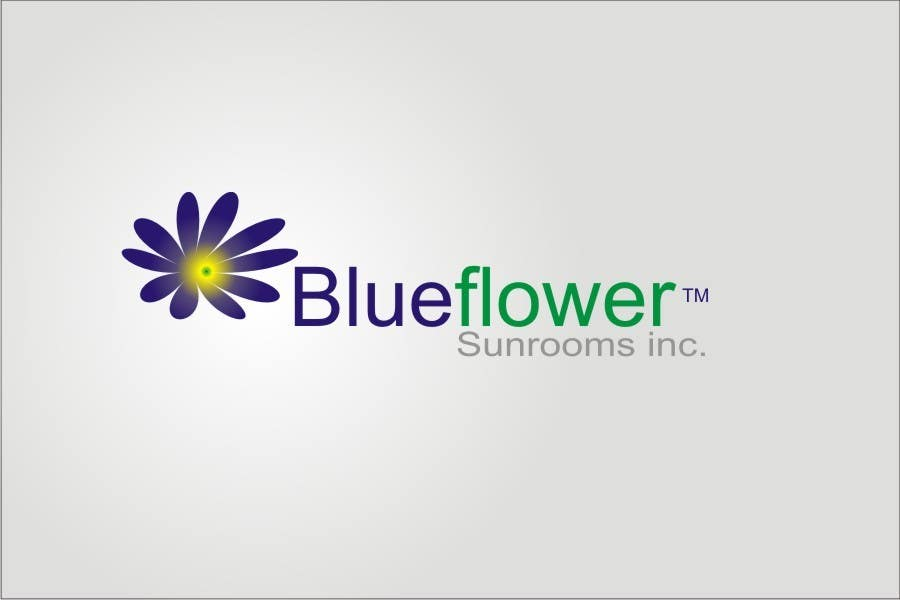 #110 for Logo Design for Blueflower TM Sunrooms Inc.  Windscreen/Sunrooms screen reduces 80% wind on deck by asifjano