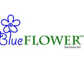 #397 para Logo Design for Blueflower TM Sunrooms Inc.  Windscreen/Sunrooms screen reduces 80% wind on deck por AntonSh