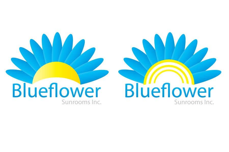 Конкурсная заявка №416 для Logo Design for Blueflower TM Sunrooms Inc.  Windscreen/Sunrooms screen reduces 80% wind on deck