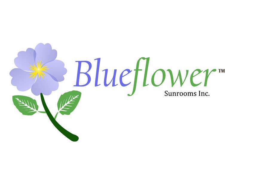 Конкурсная заявка №407 для Logo Design for Blueflower TM Sunrooms Inc.  Windscreen/Sunrooms screen reduces 80% wind on deck