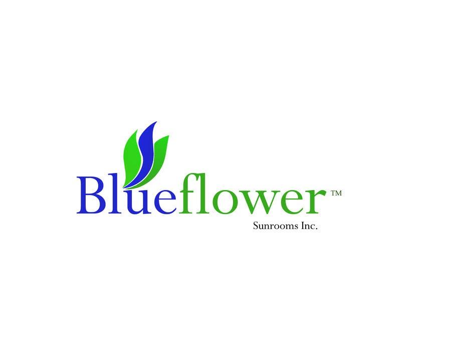 Конкурсная заявка №185 для Logo Design for Blueflower TM Sunrooms Inc.  Windscreen/Sunrooms screen reduces 80% wind on deck