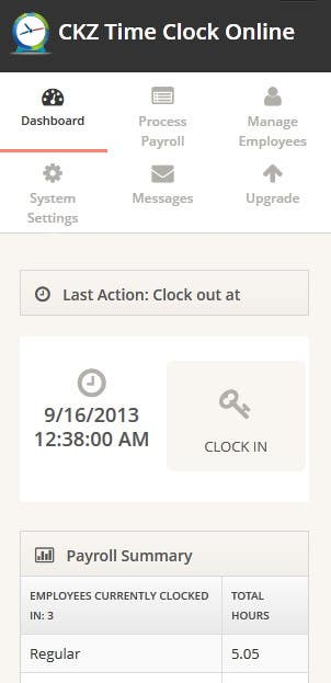#1 for Create mobile version of CKZ Time Clock Online by yogeshsharma89