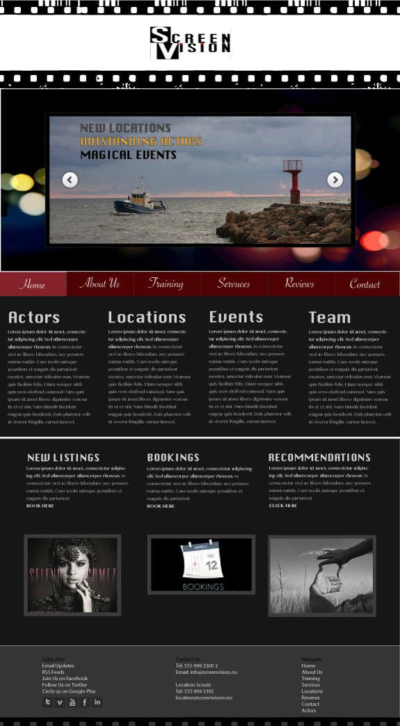 Contest Entry #2 for Design a Website Mockup for ***MOVIE INDUSTRY***