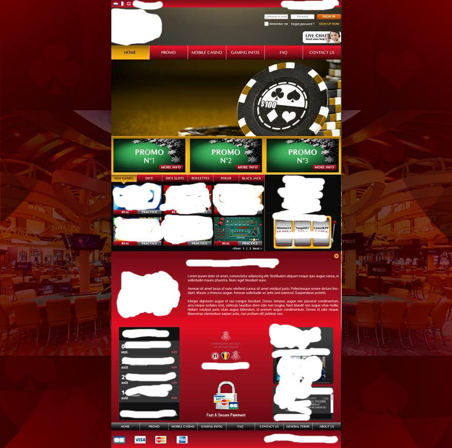Contest Entry #35 for Background for casino website