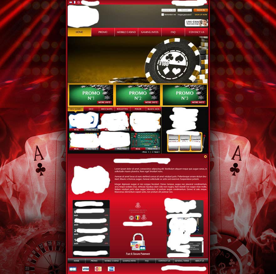 Contest Entry #14 for Background for casino website