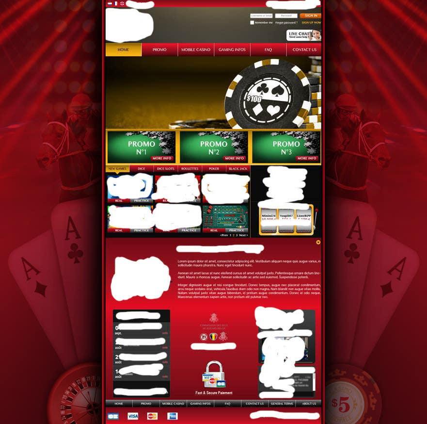 Background for casino website için 51 numaralı Yarışma Girdisi