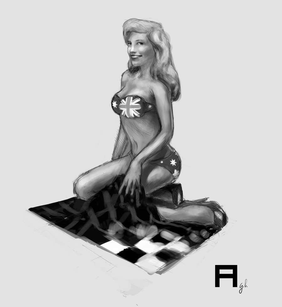 Конкурсная заявка №7 для Pin up girl Computer graphic Illustration Design for 2nd Place Motorsports