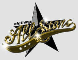 "nº 25 pour Remake this logo in high quality but make it say ""Clothing All Stars"" Not ""All Star"" par brianpadua"