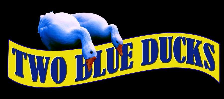 Kilpailutyö #12 kilpailussa Design a Logo for two blue ducks bar and grill