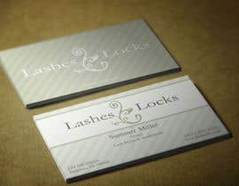 #11 for Design some Business Cards for eyelash / hair extensions by HammyHS