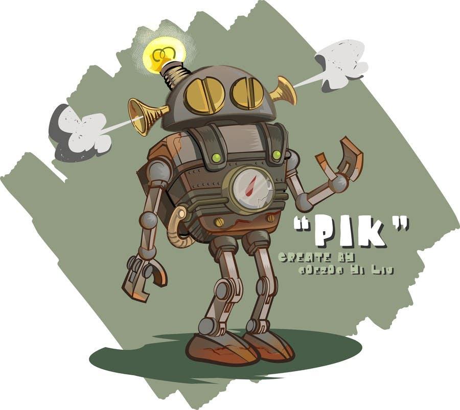 Top Entries Steampunk Robot Cartoon Character