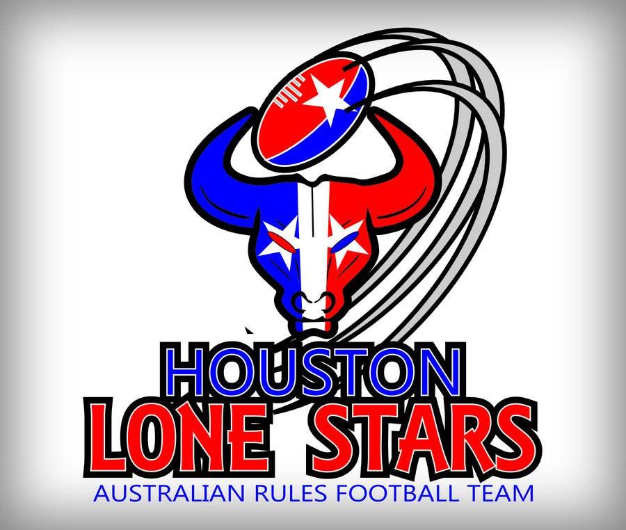 Contest Entry #                                        96                                      for                                         Logo Design for Houston Lonestars Australian Rules Football team