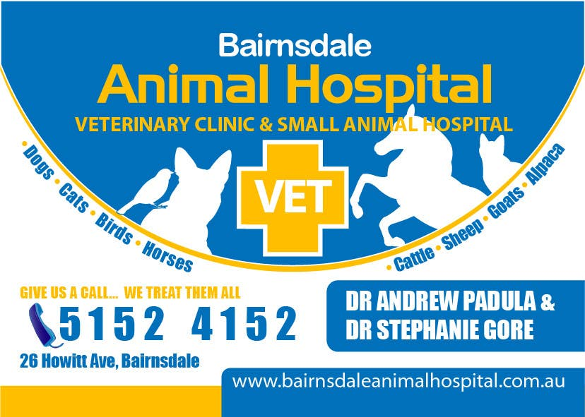 Inscrição nº 23 do Concurso para Graphic Design for Bairnsdale Animal Hospital