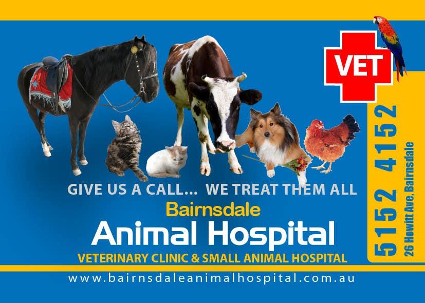 Inscrição nº 25 do Concurso para Graphic Design for Bairnsdale Animal Hospital