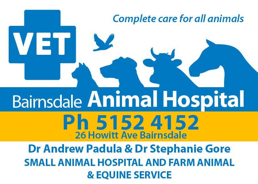 Inscrição nº 38 do Concurso para Graphic Design for Bairnsdale Animal Hospital