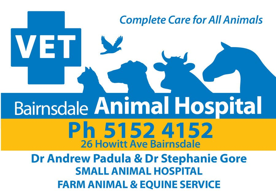 Inscrição nº 43 do Concurso para Graphic Design for Bairnsdale Animal Hospital