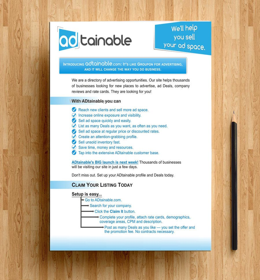 Entry #8 by andraakkir for Design a Sales Letter- copy and logo ...