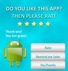 Contest Entry #4 for Rating Motivation Screen for Android App