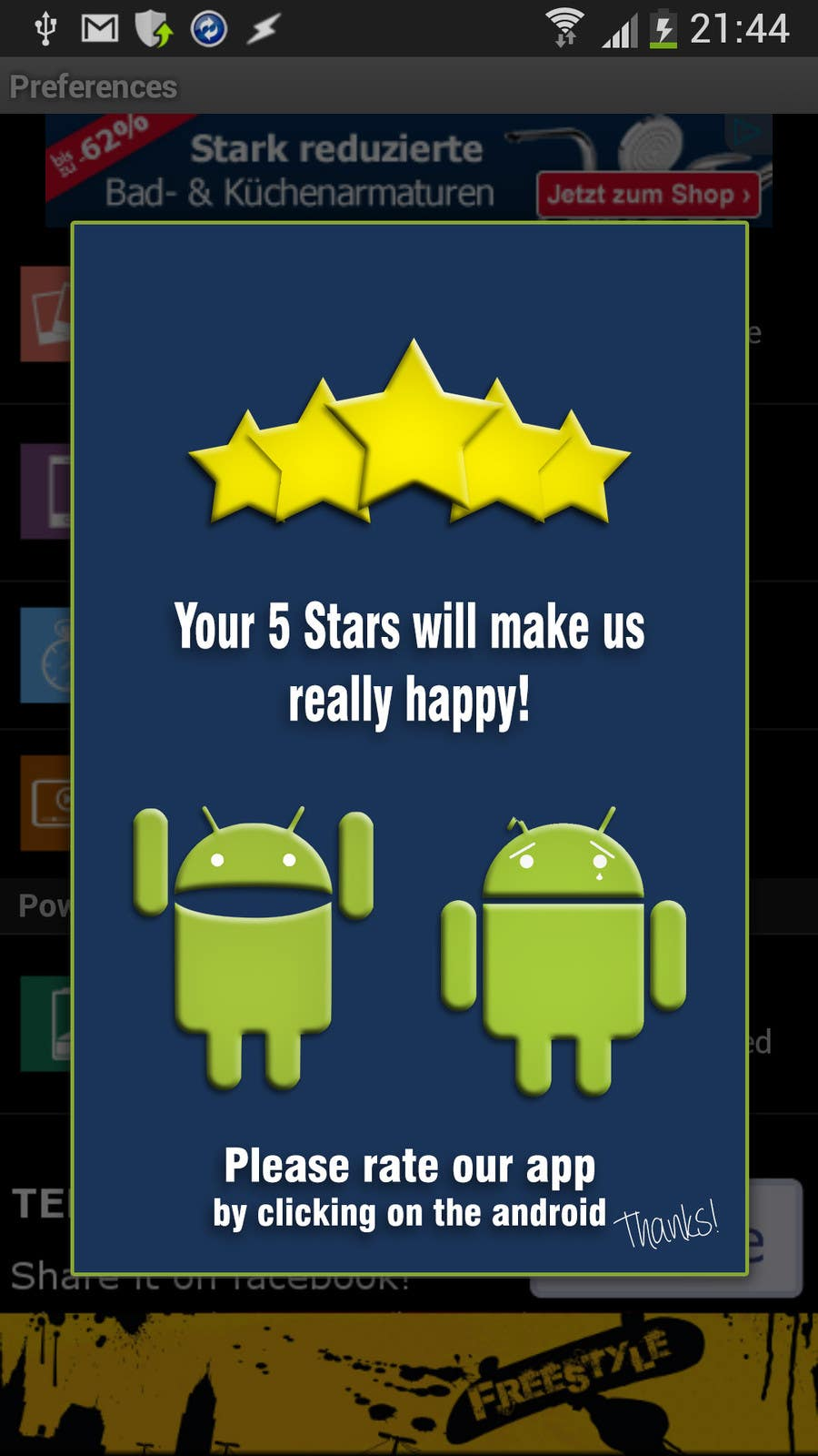 #24 for Rating Motivation Screen for Android App by DanaDouqa