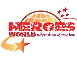 #44 para Design a Logo for HEROES WORLD por hammadraja