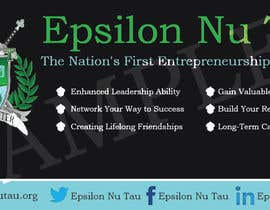 nº 1 pour Design a Epsilon Nu Tau Fraternity Table Banner par blackd51th