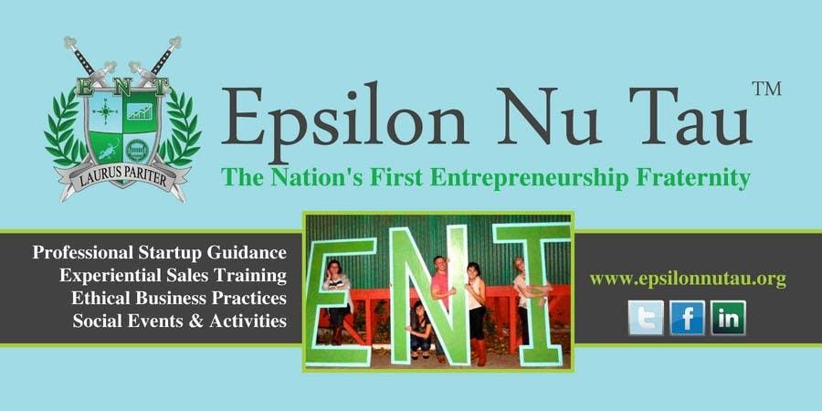 Kilpailutyö #6 kilpailussa Design a Epsilon Nu Tau Fraternity Table Banner
