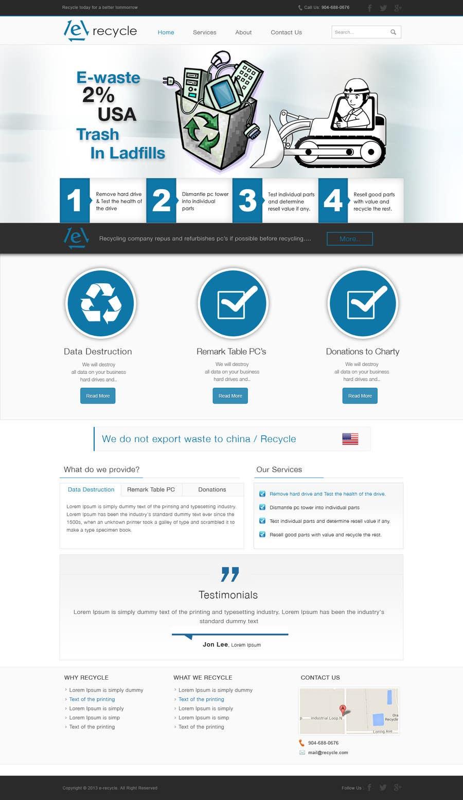 Inscrição nº                                         15                                      do Concurso para                                         E recycling company website